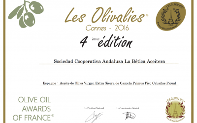 OLIVE OIL AWARDS OF FRANCIA (CANNES 2016)